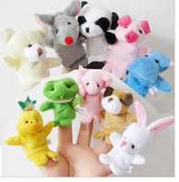Wholesale Hot sale kinds of toys finger puppets Plush Animal finger doll Christmas gifts Baby dolls