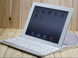 Wholesale For ipad2 iPad3 iPad4 Wireless Keyboard Bluetooth Aluminum Case Ultra thin Gift Cover