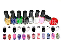 Wholesale Professional Nail Art Polish For DIY Printing Use With Steel Plate Colors ml