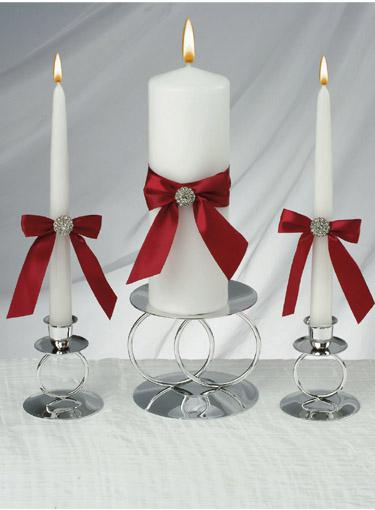Wholesale Wedding Decoration - Buy Red Allure Unity Candle Set for