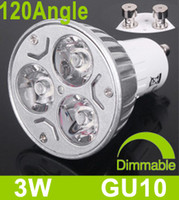 Wholesale Dimmable Best Heat Sink Aluminum GU10 W V V LED Bulbs Warm White Angle Led Spotlights