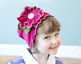 Top Baby hats girls' hat boy's hat headband fashion caps flower beanie caps 10pcs lot