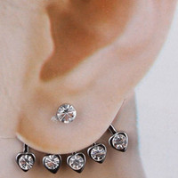 Wholesale Wedding Earrings Stud Rhinestone Lucky jewelry Metal studs for sale Women Fashion LK2132