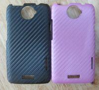 Wholesale DHL Vinyl Wrap Carbon Fiber Hard Back Case for One X Case Luxury Case Hard Rubber