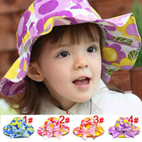Girl hat factory - Factory Supply Pure Cotton top sale hat flowers butterfly baby cotton hats Girls Caps Sun Hats Caps