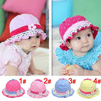 hat factory - 2012 Newest Factory Supply Pure Cotton top sale Kids hat Baby Sun hats Caps Color aviable For T