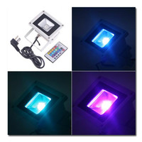 Wholesale RGB LED Spotlight Bulb Flood Lamp W Waterproof IP65 V V LM Remote Controller EB210