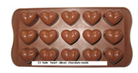 Wholesale Reuseable type hole Heart Silicone DIY Chocolate molds Cake molds Tray soap mould Tray FDA certif