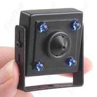 Wholesale Mini IR LED Wired Digital CCD Pinhole Camera Security Color Video Real Time Monitor Night Vision