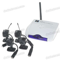 Wholesale Ultra Mini GHz CH Wireless Surveillance Camera w Microphone Black Camera Set