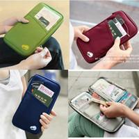 Wholesale Travel Wallet Passport Holder Document Organizer Bag Case Card Zippered