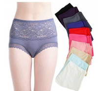 bamboo fiber - Newest Large Bamboo fiber underwear female soft comfortable cotton high waist brief anti bacterial