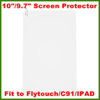 Wholesale 10 quot quot Screen Protector Fit to quot Flytouch SuperPAD C91 and quot Allwinner nd Tablet PC