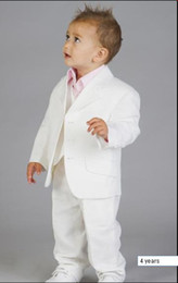 Wholesale high quality Boys white linen suit Boy wedding suits Boy Tuxedo