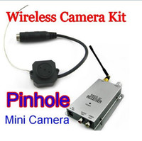 Wholesale 2 G Wireless Pinhole Cameras and Receiver Original Tiny Hidden spy Cams