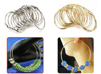 Wholesale 50pairs mm Basketball Wives Big Hoops Silver Golden Earrings
