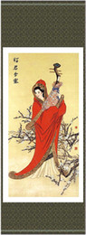 Wholesale Asian Silk Scroll Paintings Of Chinese Women Hanging Scroll Art Free