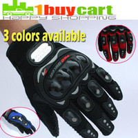 Wholesale New Motorcycle Racing Riding Protective Gloves Black Red Blue XL do drop shipping