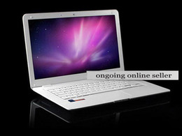 Wholesale 14 inch AirBook Laptop D2500 GHz GB GB Win7 WiFi Camera Computer black White Color NetBooks