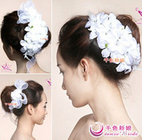 Wholesale European Style Bride Headdress Flower and Wrist Flower Bridal Hair Accessories Bridal Tiaras