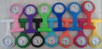 Wholesale Nurse and doctor styles watch silicone mix colors for choose jelly Pocket watch