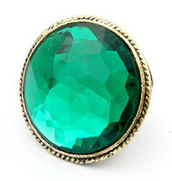 Wholesale Emerald Rings Retro Oversized Gemstone Trendsetter Cat s Eye Ring Fashion Trend