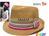 Wholesale Straw hat solid color colorful lace adult hat color