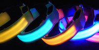 Wholesale LED FLASHING LIGHT DOG PET COLLAR Multi colours LED light Nylon s Safely Collar
