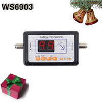 Wholesale 10pcs WS Digital LED Satellite Signal Meter SatLink
