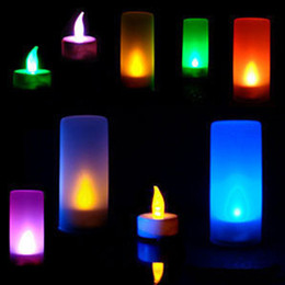 Wholesale LED Magic Operated Candle Light Party amp Wedding Flameless Romantic Tealight Colorful