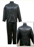 Wholesale Kungfu suits Martial Art Chinese Tai Suit Soft Imitated silk uniform Tops Pants sets