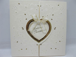 Wholesale Exquisite White Wedding Cards Invitation Cards Western Style Come With Envelope
