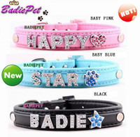 Wholesale 10 off for mm DIY Name Personalized Dog Pet Collar PU Leather Dog Pet Collar Pet Supplies Pet Product Price Exclude Sliders