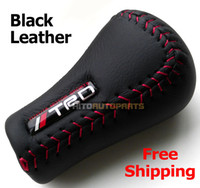 Wholesale Manual Gear Universal Fits Black Leather TRD Logo Shift Knob