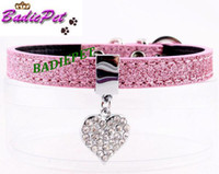 best selling pet supplies - Best Selling off for Lovely Heart Paw Charm Personalized Dog Pet Collar Paillette PU Leather Fashion Dog Pet Collar Pet Supplies