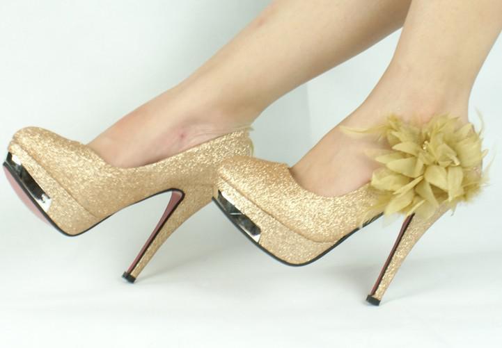 Hot, the women's high heels , gold wedding shoes , free shipping