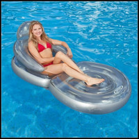 Wholesale intex Folding backrest deck floating row Water deck chair Inflatable float row cm FP5