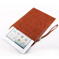 Slim Anti- shock Envelope Leather Case Bag For iPad 2
