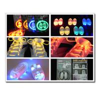 Wholesale 100pairs LED Light Up Shoes Shoelaces Shoestring Flash Strap Stick Disco Shoelace shoe lace EB015