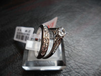 Couple Rings Bohemian Women's Jewelry Rings betrothal ring Rigant 18k gold-plated finger ring crystal CZ diamond Rhinestone S295