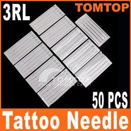 Wholesale 50Pcs set Disposable Round Liner Sterilized Tattoo needle Needles RL H8312