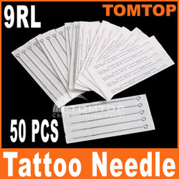 Wholesale 50PCS set Tattoo Needles Disposable Round Liner Sterilize RL Stainless Steel needle H8315
