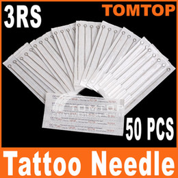 Wholesale 50Pcs set Disposable Round Shader Sterilized Tattoo Needles RS stainless steel needle H8316