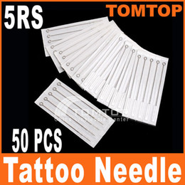 Wholesale 50Pcs box Disposable Round Shader Sterilized Tattoo Needles RS stainless steel needle H8317