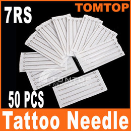 Wholesale 50Pcs Disposable Round Shader Sterilized Tattoo Needles RS stainless steel needle H8318