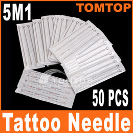 Wholesale 50Pcs Disposable Sterilized Single Stack Magnum Tattoo Needles M1 stainless steel needle H8320