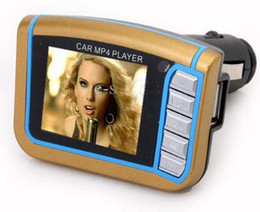 Wholesale Sd Card Car Stereos - 1.8 Inch CSTN Screen Display Car MP3 Player MP4 With Built-in Wireless FM Stereo Transmitter SD Card H092