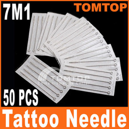 Wholesale 50Pcs set Disposable Sterilized Single Stack Magnum Tattoo Needles M1 stainless steel needle H8321