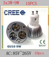 Wholesale Promotion Retail High power CREE W x3W Dimmable GU10 MR16 E27 E14 B22 Led Light Lamp Spotlight led bulb downlight lighting