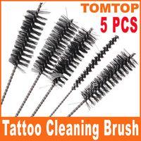 Wholesale 5pcs set Tattoo Tip Grip Tube Machine Cleaning Brush Set H8326